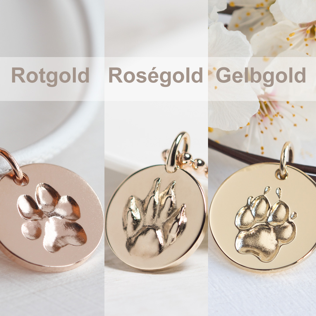 Rotgold Rosegold Gelbgold Farbe Unterschied